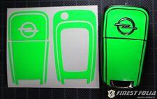 Neon Grün Folie Dekor Schlüssel Opel C Signum Astra J Meriva B Insignia OPC GTC