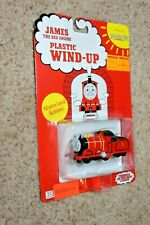 Thomas Tank Engine & Friends JAMES Plastic Wind-Up Motorized Toy Train Mint NEW