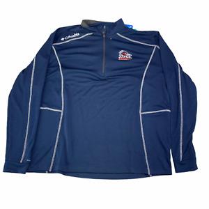 New Mens XL Columbia Golf UTSA Roadrunner Pullover 1/4 Zip Jacket Omni-Wick