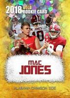 Mac Jones Cracked Ice Gold Rookie Limited Edition Card Alabama Crimson Tide