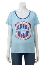 Captain America Shield  Blue Top Shirt Tee Shirt Size L Large  Nwt MSRP $24