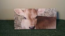 New listing Calf Self-Standing Crate Sign, Cow, Farm, Primitive, Made in Usa, Rustic