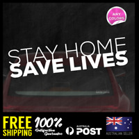 STAY HOME  - PANDEMIC JDM STICKERS DECALS POSITIVE ENCOURAGEMENT 195x46mm