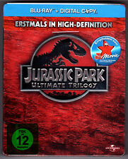 JURASSIC PARK ULTIMATE TRILOGY BLU-RAY STEELBOOK NEU & OVP SEALED LOST WORLD OOP