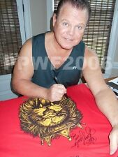 WWE JERRY THE KING LAWLER RING WORN HAND SIGNED T-SHIRT WITH EXACT PROOF COA 5