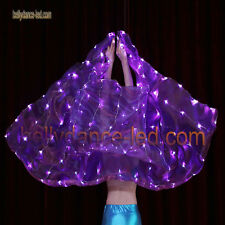 belly dance cosplay prop led veil 128 leds new model Shinning sky purple