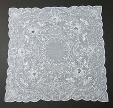 Madeira Heavily Embroidered Hanky - Wedding - Vintage Keepsake Fine Hand Work
