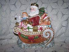 Fitz & Floyd Omnibus 11in Ceramic Santa Cookie Jar
