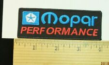 """Mopar Performance  Iron-on Embroidered Patch 4x1.5"""""""