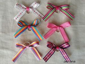 Jemlana's  handmade dog,cat,pet grooming bows (for 6 bows)