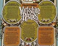 VINTAGE AUTHENTIC KITCHEN ART YORKSHIRE RECIPES COTTON KITCHEN TOWEL