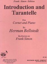 trumpet sheet music - Introduction & Tarantella - Hermann Bellstedt cornet & pia