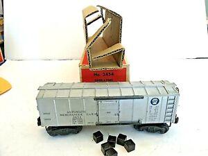 Lionel 3454 Operating Merchandise Car W/Original Box, Insert, & 6 Original Boxes