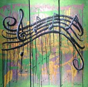SUE BETTS Abstract Painting  'For the Love of Music'