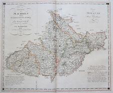 Kindermann Orig. altkol. Kupferstich Landkarte Mähren Morava Tschechien 1802