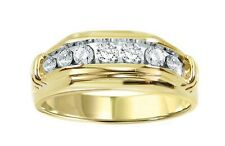 14k Yellow Gold Keepsake Men's Diamond Wedding Band