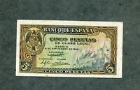 BILLETE  5 PESETAS 1940   SERIE E7031931  SC