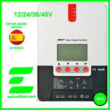 Regulador  solar con display MPPT (maximizador) 12/24/36/48V.60A. Vmax: 150V.