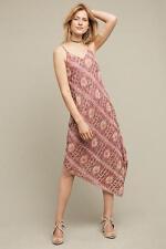 NWT $458.00 Anthropologie Lilou Beaded Slip Dress By Floreat Sz. 6