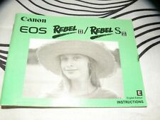 Canon Instruction Manual for EOS Rebel II camera