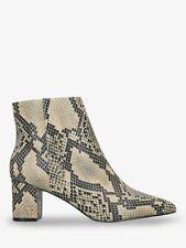 Kurt Geiger London Burlington Leather Block Heel Ankle Boots, Snake Print UK5