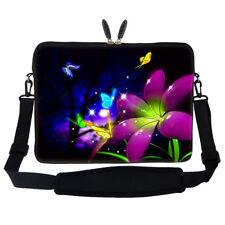 """17.3"""" Laptop Computer Sleeve Case Bag w Hidden Handle & Shoulder Strap 2703"""