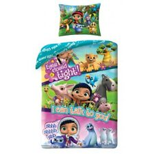 Wissper Eyes closed tight Peggy TV kids Single Bed Duvet Cover Set 100% COTTON