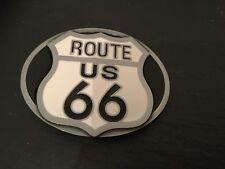 ROUTE 66 Nouveau Boucle de ceinture métal USA Route 66 Noir   Blanc Panneau  Routier 4ab1e050693