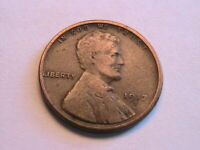 1917-S Lincoln Cent Choice F Sharp Fine Nice Toned Original Wheat Penny USA Coin