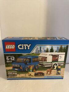 Lego City Van & Caravan 60117. BRAND NEW SEALED BOX. 250 pieces. RETIRED set