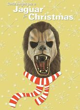 ALIEN MONSTER MASK Holiday Christmas GREETING CARD Distortions Unltd WEREJAGUAR