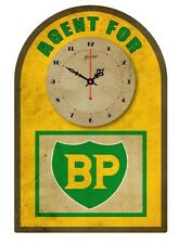 BP Agent for.. VINTAGE  TIN SIGN CLOCK  Retro Style