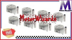 Chevy GM 307 1968-73 SEALED POWER 295P30 Cast Flat Top Pistons w/4VR 8-PACK .030