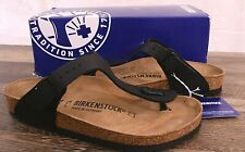 Birkenstock Gizeh Birko-Flor Sandals Thongs 6 Med 37 Shoes Black 0043691 NEW