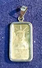 1985 LIBERTY CREDIT SUISSE GOLD BAR .999 14K YELLOW  CHARM PENDANT 1.3 GRAMS DW