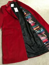 PAUL SMITH MAINLINE RED CORDUROY EPSOM COAT SIZE IT46 UK 14 RETAIL €910 BNWT
