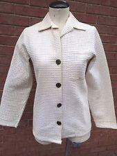 Vintage Waffle Textured Point Collar Jacket/Top
