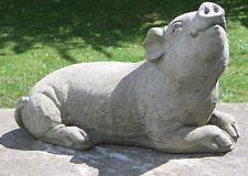 Dragonstone Med Pig D Garden Stone Ornament - AN109