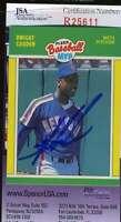 Dwight Doc Gooden 1989 Fleer Mvp Hand Signed Jsa Coa Autographed Authentic