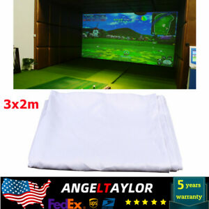 Indoor Golf Ball Simulator Impact Display Projection White Screen 9.84' x 6.56'