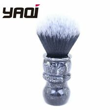 YAQI 24mm Black Marble Handle Tuxedo Synthetic Soft Hair Shaving Brush R151016-S