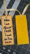 Embroidered Bookmark *Handmade **New** Scripture