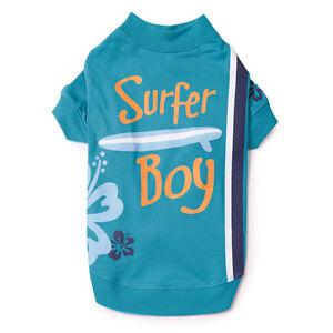 CASUAL CANINE SURFS UP SURFER BOY DOG PUPPY PET CAT BLUE AQUA SHIRT XXS XS S/M L