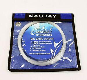 100% FLUOROCARBON BIG GAME FISHING LEADER 150 lb 30M Coil (33 Yds)