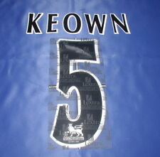Lextra 97-06 Arsenal Invincible ' KEOWN 5 '  EPL Player Issue Shirt Name Set