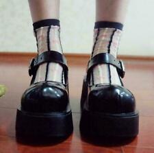 Fashion Women shoes Platform Creeper Lolita Wedge Heel Buckle Mary Janes MOON