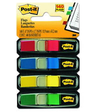 Post-it Flags, Ideal for Marking and Flagging Documents, Assorted Primary Colour