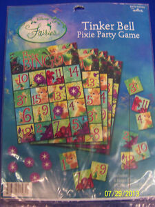 RARE Tinker Bell Disney Fairy Pixie Tink Birthday Party Bingo Party Favor Game