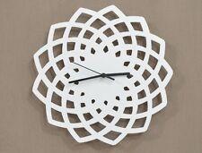 White Geometrical Star Silhouette - Wall Clock