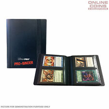 Ultra-Pro 2 Pocket Black Pro-Binder With 20 Trading Card Pages to Hold 80 Cards